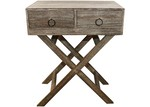 High ST. Lorette Double Drawer Side Table