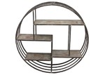 High ST. Round Elemental Hanging Wall Shelf