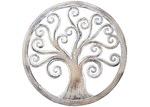High ST. Whitewash Round Tree Of Life Wall Hanging