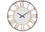 High ST. 70cm Whitewash Hampton Metal Wall Clock