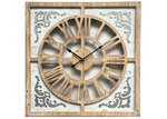 High ST. 60cm White Wash Marseilles Square Wall Clock