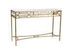 High ST. Gold Aura Geometric Metal Console Table