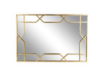 High ST. Gold Aura Geometric Metal Wall Mirror