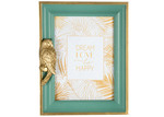 "High ST. Green & Gold Luxe Parrot 5 x 7"" Photo Frame"