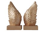 White Moose Feather Wing Bookends