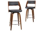 Dwell Home Marcus Swivel Faux Leather Barstools (Set of 2)