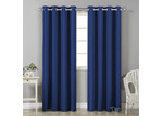 Dwell Home Navy Art Queen Panel Blockout Curtains (Set of 2)