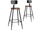 Dwell Home 74cm Alex Wooden Barstools (Set of 2)