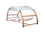 Dwell Outdoor Gideon Outdoor Double Hammock Bed with Canopy