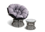 Dwell Outdoor Henri PE Wicker Outdoor Papasan Chair & Table Set