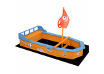 Dwell Outdoor Boat Shaped Keezi Wooden Sand Pit