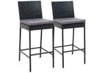 Dwell Outdoor 71cm Reva PE Wicker Outdoor Barstools (Set of 2)