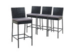 Dwell Outdoor 71cm Reva PE Wicker Outdoor Barstools (Set of 4)