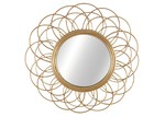 Cooper & Co Homewares Round Daffodil Cane Willow Mirror