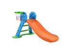 Dwell Kids Kids Perry Slide with Basketball Hoop & Ladder Base