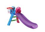Dwell Kids Kids' Purple Perry Slide with Basketball Hoop
