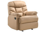 Nordic House Beige Fabby Faux Leather Recliner Armchair
