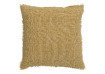 L & M Home Fringed Burton Square Linen Cushion