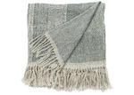 L & M Home Blue-Green Moreton Silk & Linen Throw