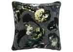 L & M Home Grey Botanica Velvet Cushion
