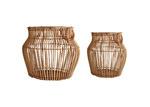 Maine & Crawford 2 Piece Aesha Rattan Belly Basket Set