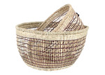 Maine & Crawford 2 Piece Round Blake Storage Basket Set