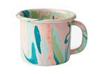Bornn Blush Marble 300ml Enamel Mug