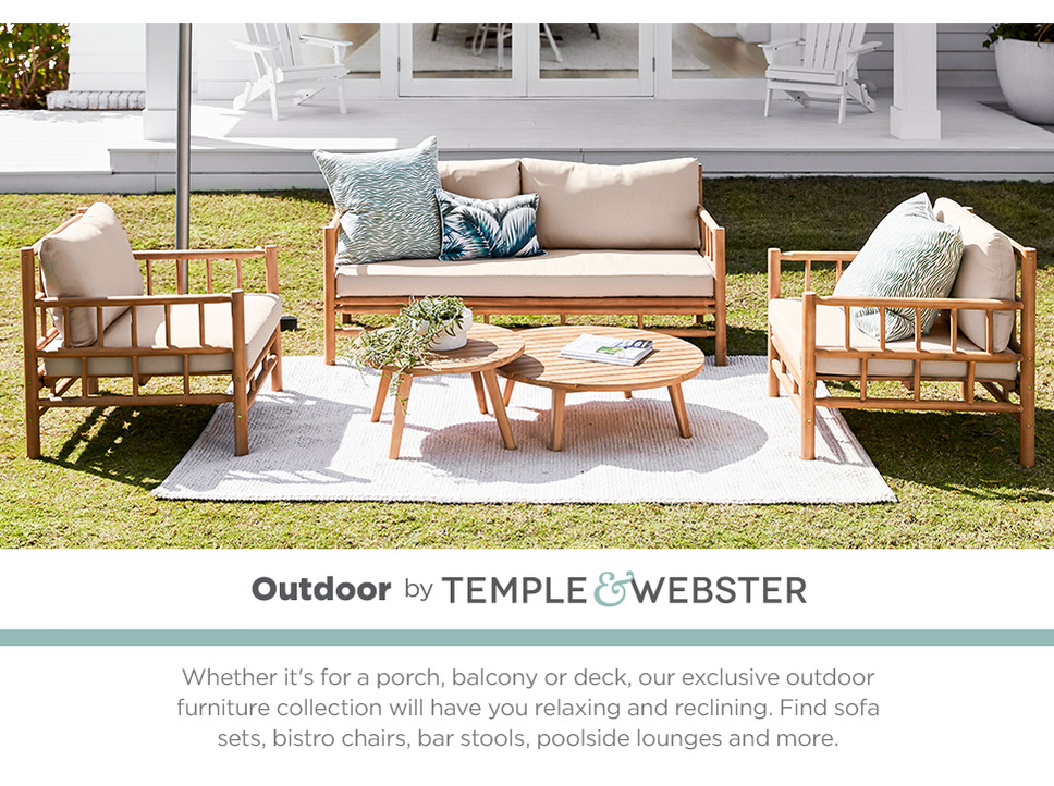 Whether it's for a porch, balcony or deck, our exclusive outdoor furniture collection will have you relaxing and reclining. Find sofa sets, bistro chairs, bar stools, poolside lounges and more.