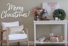 How to: style a beautiful festive console table