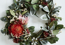 How to make easy floral Christmas wreaths: Part 1