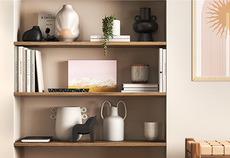 How to style a shelf