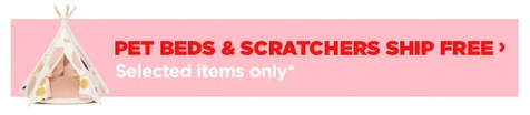 Free ship on selected pet products