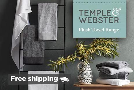 Temple & Webster plush towel range