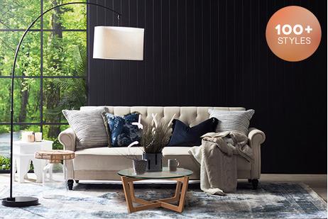 Winter Hamptons Living Room