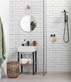 Modern graphic bathroom