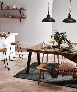 Simplistic Industrial Dining