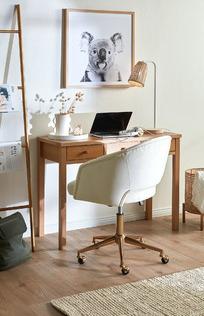 Textural Hallway Office