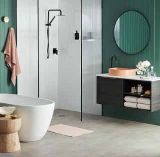Sleek Easy Clean Bathroom
