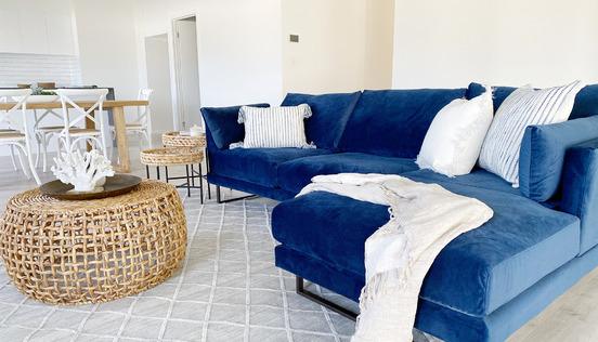 Bold Coastal Family Room