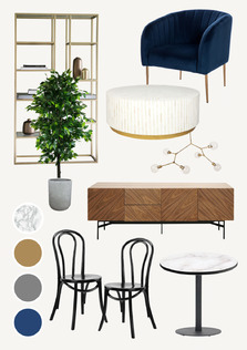 Industrial Luxe Restaurant Concept