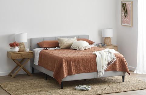 Casual Clay Bedroom