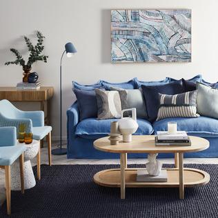 Blue & Bright Living Room