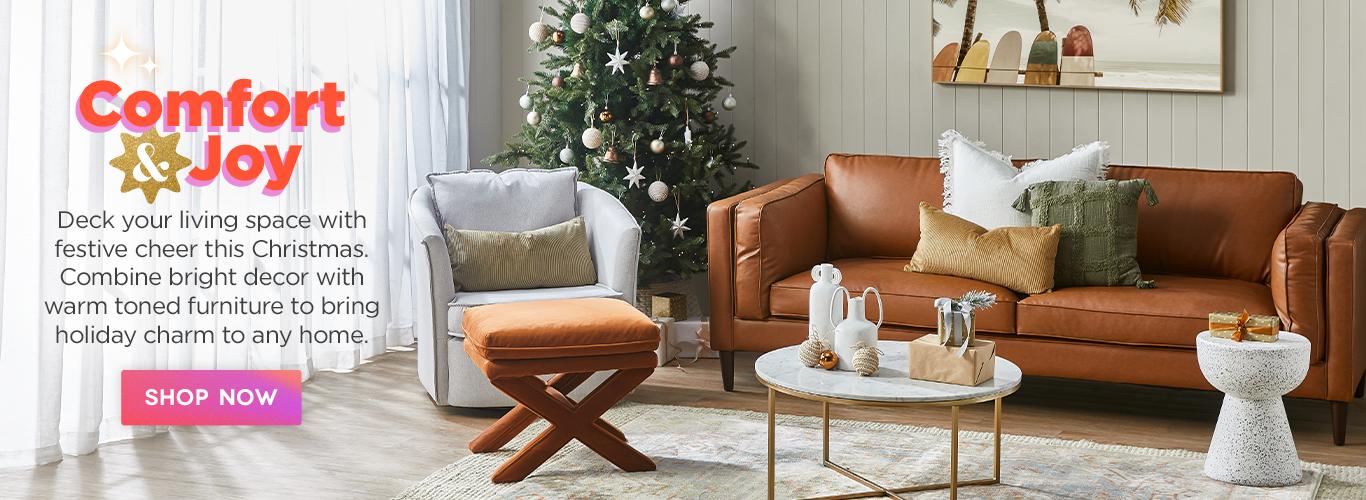 Christmas living room curation