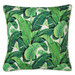 Escape to Paradise Natural Banana Leaf Piped Outdoor Cushion
