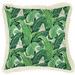 Escape to Paradise Banana Leaf Natural Retro Fringe Square Cushion