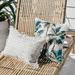 Escape to Paradise White Coastal Fringe Stripe Rectangular Outdoor Cushion