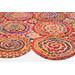 Network Rugs Kaleidoscope Jasmine Hand Braided Multi Coloured Rug