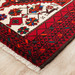 Network Rugs Red & White Oriental Wool Balouchi Rug