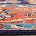Network Rugs Blue & Red Wool Persian Kashan Rug
