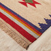 Network Rugs Beige Wool Azerbaijani Kilim Rug